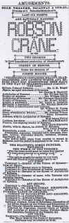 New York Times ad for A Comedy of Errors (9-27-1885) with William Haworth-Resized.jpg (552545 bytes)